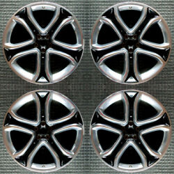 Ford Edge Compatible Replica Polished W/ Black Pockets 22 Wheel Set 2011 To 201