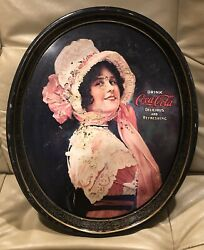 1972 Reproduction Of 1914 Betty Coca-cola Metal Tip Tray.