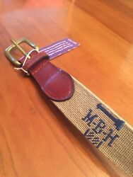 Nwt Smathers And Branson Meadow Brook Hunt And Golf Club Size 32 Needlepoint Belt