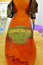 Vintage Vento Italy Leather Covered Elephant Wine Decanter / Bottle