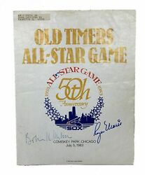 Old Timerand039s All-star Game / 50th Anniversary All-star Game 1983 Signed 1st Ed