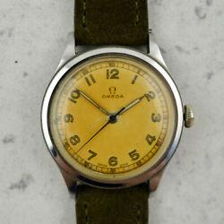 C.1945 Vintage Omega Military Calatrava Ref. 2179-5 Cal 30t2 In Stainless Steel