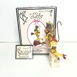 Alley Cats Ornament Margaret Le Van Retro Naughty Nat Dusting With Box