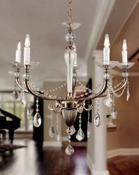 Suspended Lights Classic With Crystal Clear Silver