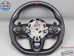 Mini Cooper S F55 F56 F61 Perforated 5mm Red Ring Small Carbon Steering Wheel
