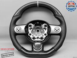 Mini Cooper S R55 R56 R57 White Ring Perforated Small Carbon Steering Wheel V4