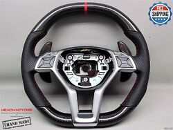 Mercedes Sl63 Sl65 W212 E63 Cls63 Cla45 C63 A45 5red Perfo Carbon Steering Wheel