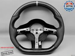 Dodge Viper Srt10 04-10 Silver Stitch Perforate Flat Thick Carbon Steering Wheel