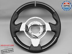 Lotus Elise Exige Cups Sport Gray Ring Perforated Thick Carbon Steering Wheel V1