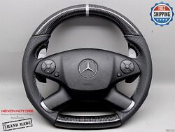 Mercedes W212 E63 Amg E550 E350 2010-2012 Perforated Small Carbon Steering Wheel