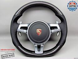 Porsche 911 997 991 958 Cayenne Panamera No Ring Perf Carbon Steering Wheel V6