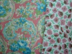 VINTAGE FABRIC LOT 50S PINK 2 YDS