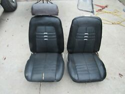 60and039s - 70and039s Chevy Black Bucket Seats Hot Rod Project Seats