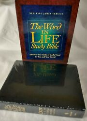 Word In Life Study Bible Nkjv Black Bonded Leather Sealed W Box