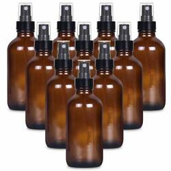 4 Oz Empty Small Glass Spray Bottles For Cleaning Solutions - Amber Glass 10pack