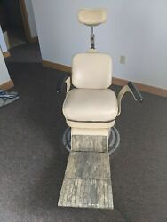 Vintage S.s. White Motorized Adjustable Dental Chair With Foot Rest Works