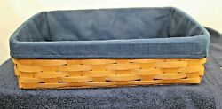 Longaberger Letter PAPER TRAY With Navy Liner