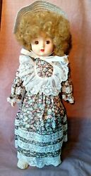 1984 Schmid Porcelain Musical Doll 18 - As Time Goes By Orig Box 560-034