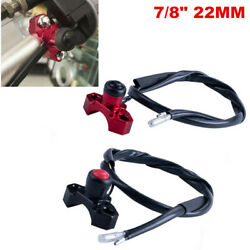 7/8 22mm Motorcycle Atv Scooter Start Kill Switch Button Handlebar Clamp Clip