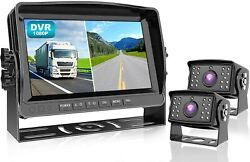 Wired Backup Camera With 9 Dvr Monitor System Kit Waterproof Rear View Dy912