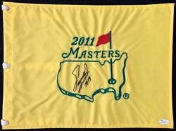 Fuzzy Zoeller 2011 Masters Open Pin Flag Signed Autographed Augusta National