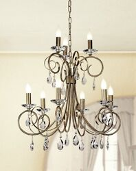 Suspended Lights Classic With Crystal Clear Sterling Silver