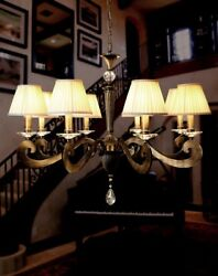 Suspended Lights Classic With Crystal Clear Burnished And Lampshade