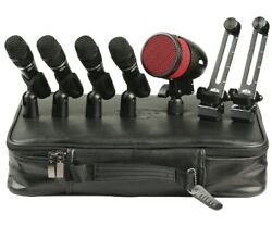 Heil Hdk5 Drum Mic Kit Incl 4x Hmpps 2x Hh1s 1x Pr48 And 4x Hm Clips And Case