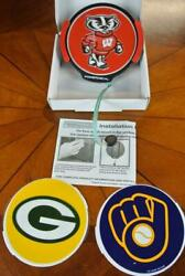 Powerdecal Badgers Green Bay Packers Milwaukee Brewers Wisconsin Power Decal
