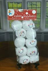 10 Indoor Snowballs Happy Smiling Snowball Fight Kit Soft Plush Christmas Party