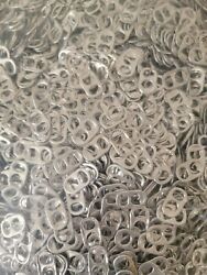 5 Lbs. Silver Aluminum Beer And Soda Cans Pop Tops Pull Tabs Craft 10,000+