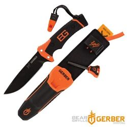 Genuine Gerber Bear Grylls Ultimate Pro Fixed Blade Survival Knife For Outdoor