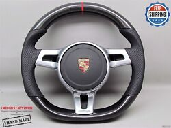 Porsche 911 997 991 958 Cayenne Panamera 5red Perforate Carbon Steering Wheel V6