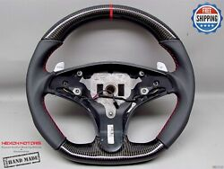 Mercedes W204 C63 Amg Pre-facelift 5mm Red Ring Napa Thick Carbon Steering Wheel
