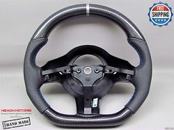 Dodge Viper Srt10 2004-10 Silver Ring Perforate Flat Thick Carbon Steering Wheel