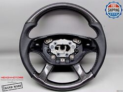 Mercedes W221 S550 S63 W216 Cl63 Cl65 Cl550 Gray Stitch Carbon Steering Wheel V2