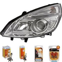 Headlight Right For Renault Scenic Ii Type Jm Phase Ii Year 06-09 Hella H7 +