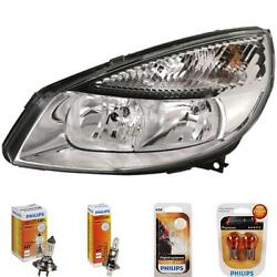 Headlight Right For Renault Scenic Ii Jm Phase I Year 03-06 Hella H7 +