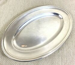 Art Deco Christofle Serving Tray Oval Large Platter Silver Plated Antique French
