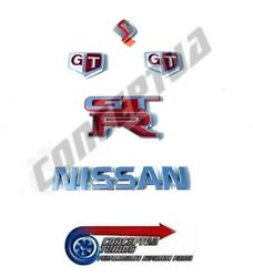 Genuine Nissan Complete Ornament Emblem Badge Kit - For R32 Gtr Skyline Rb26dett