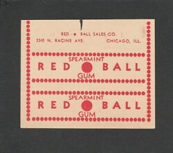 Advertising 1936 Sport Chewing Gum Wrapper --- Red Ball No Baseball Pennant