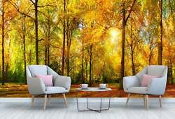 Autumn Landscape Of A Forest Wallpaper - Large Wall Mural Self-adhesive Fabric
