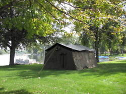 Us Military 16x16 Frame Canvas Tent Camping Hunting Army W/rain Fly Floor