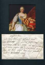 Maria Theresa Habsburg Autograph Signed And Mounted