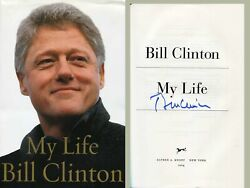 Bill Clinton Us President Autograph, Signed Book