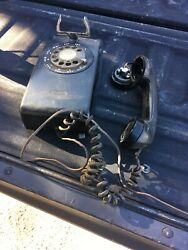 Vintage Black Bell System Western Electric 554 Rotary Dial Wall Phone As-is