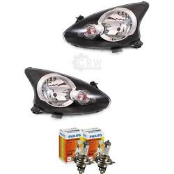 Headlight Set Right And Left For Toyota Aygo 05- Valeo Incl. Lamps