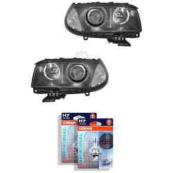 Xenon Headlight Set For Bmw X3 Year 04-06 With Indicator White D2s +h7 Vxx