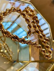 9ct Gold Heavy Rope Necklace