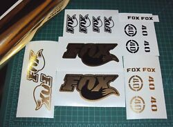 Fox 40 RC2 Forks Gold Chrome with Black Decals Set Stickers Racing MTB DH NEW